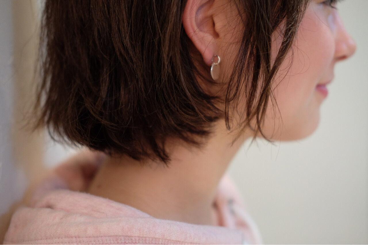 大人女子 ボブ リラックス ナチュラルヘアスタイルや髪型の写真・画像