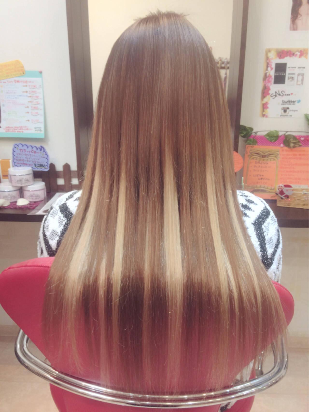 ストレート エクステ 外国人風 ハイトーンヘアスタイルや髪型の写真・画像