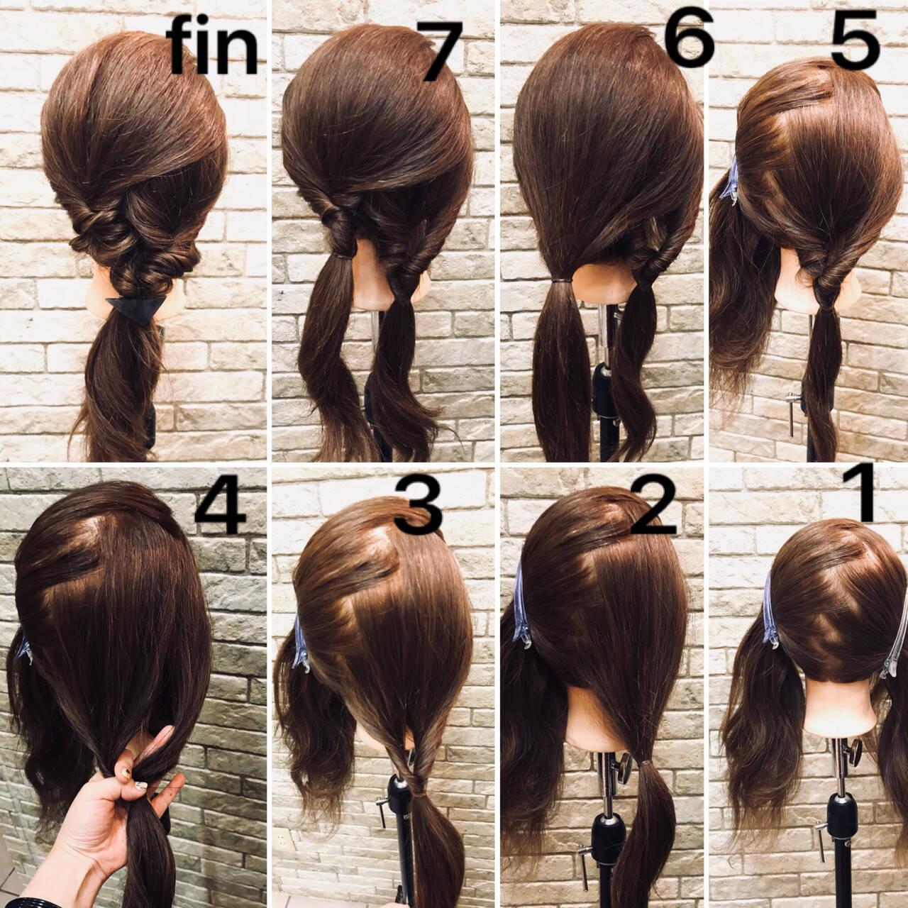パーティ ガーリー デート くるりんぱヘアスタイルや髪型の写真・画像