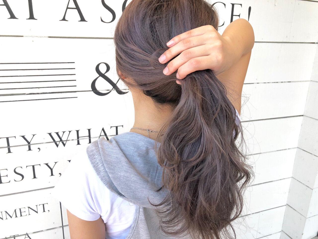 切りっぱなし アッシュベージュ 涼しげ 大人かわいいヘアスタイルや髪型の写真・画像