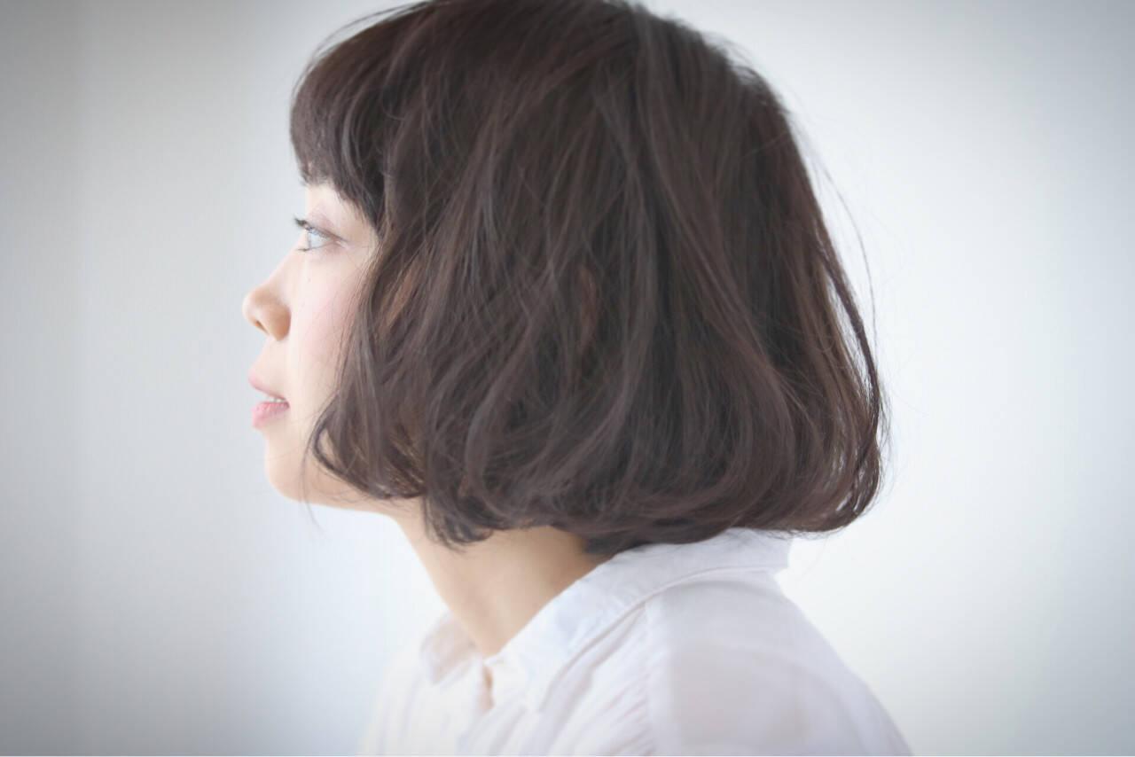 ゆるふわ ボブ パーマ 大人かわいいヘアスタイルや髪型の写真・画像