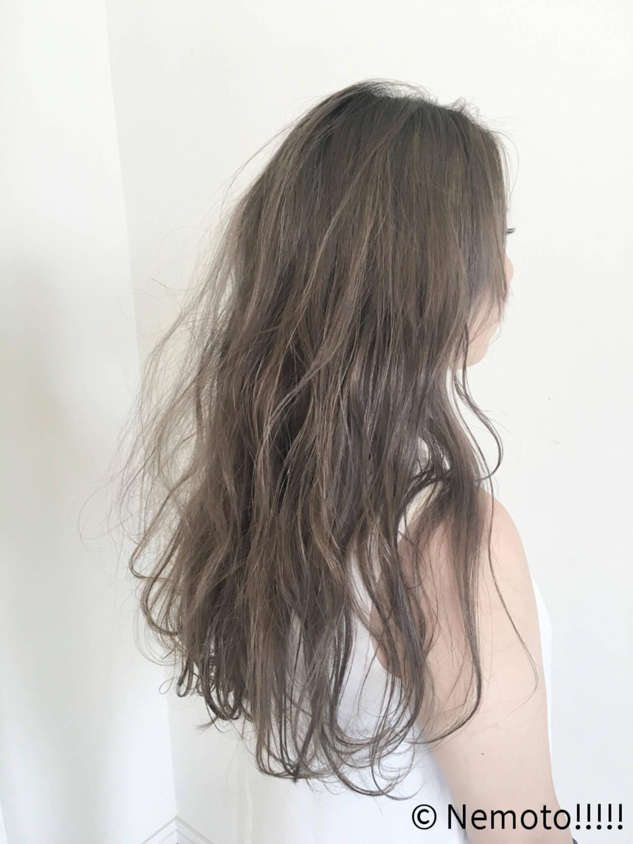 ダブルカラー 透明感 ロング 抜け感ヘアスタイルや髪型の写真・画像