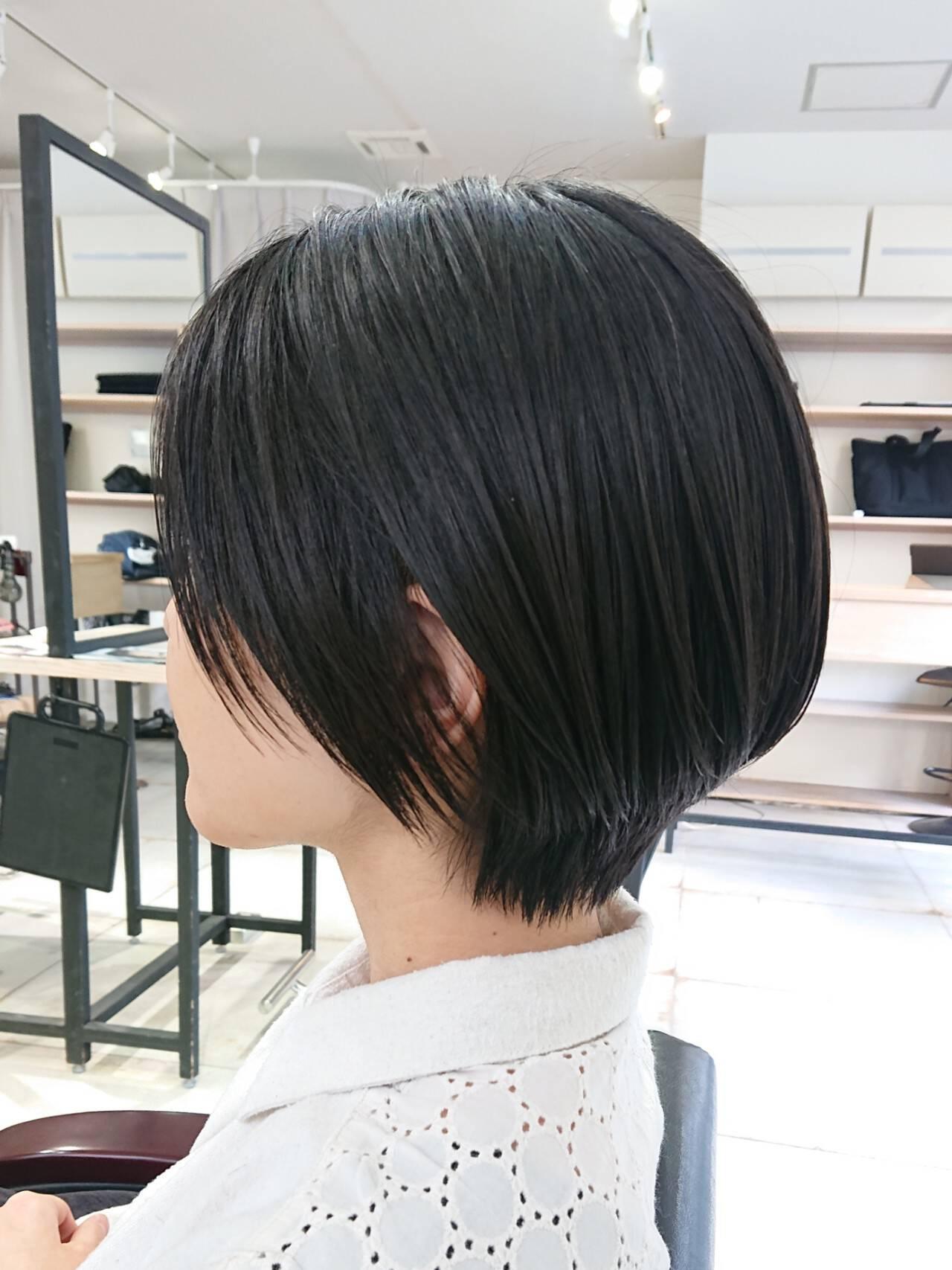 ショートヘア ハンサムショート 美シルエット ナチュラルヘアスタイルや髪型の写真・画像