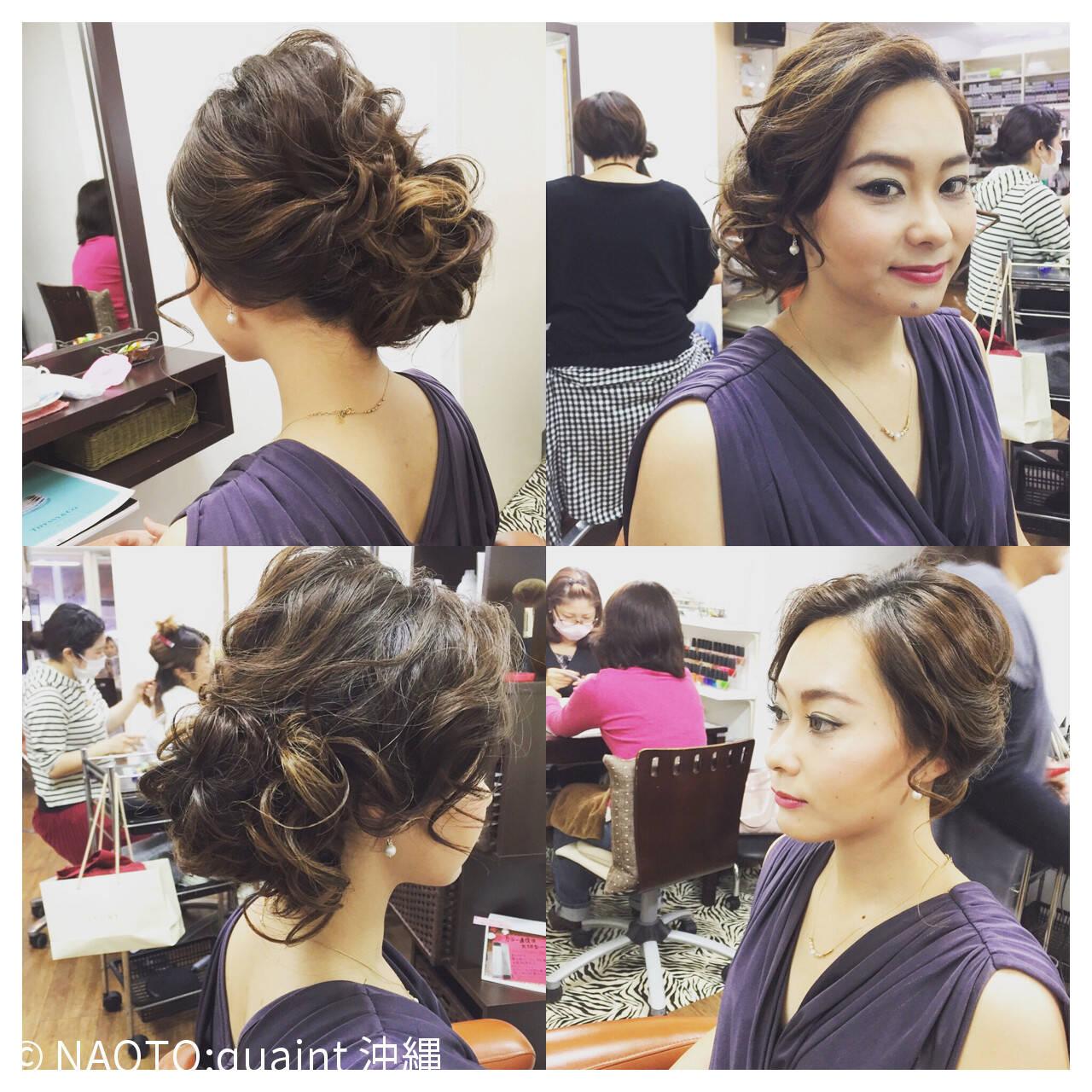 結婚式 シニヨン パーティ ルーズヘアスタイルや髪型の写真・画像
