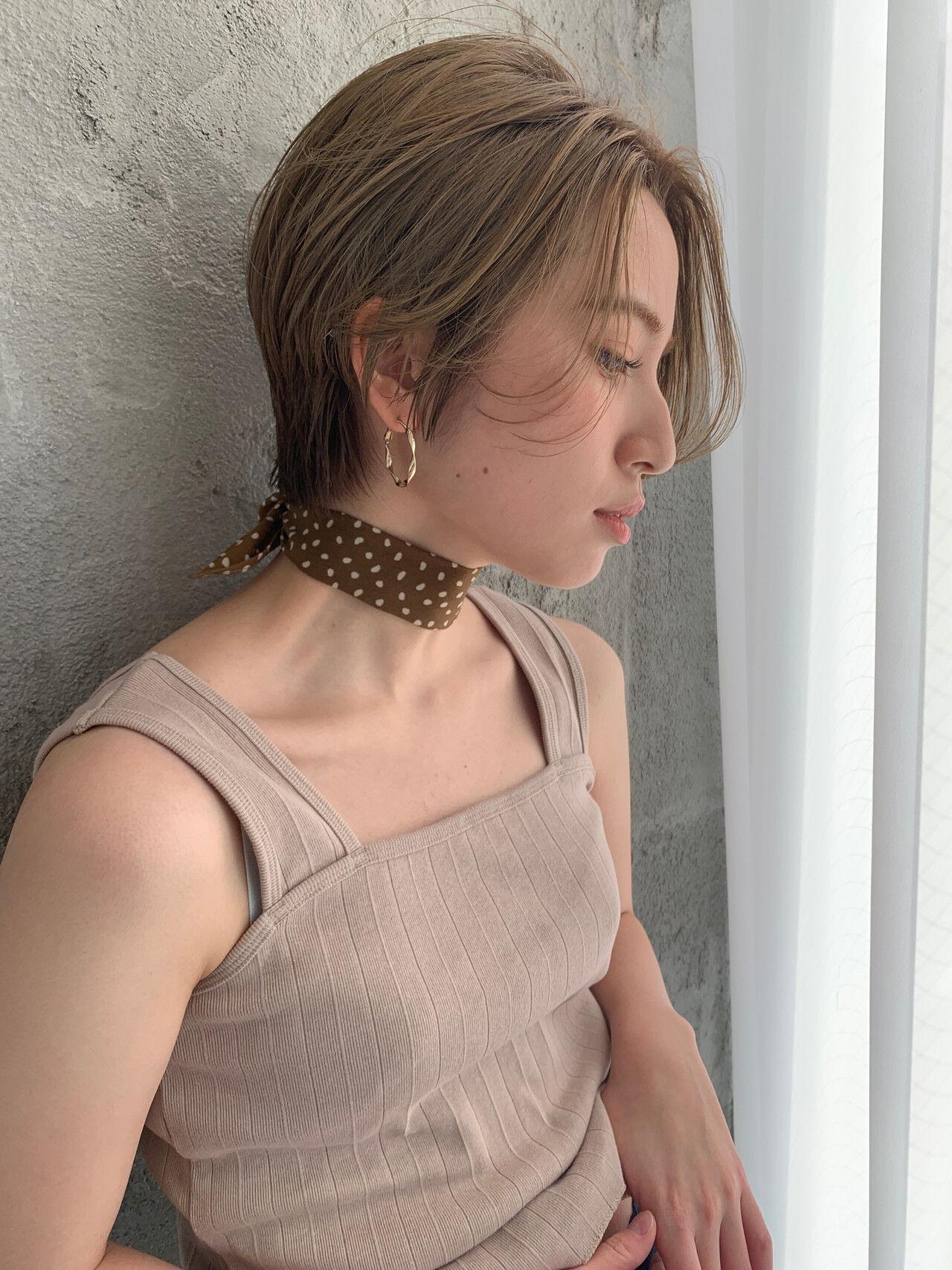ショート ショートボブ ハンサムショート ハイトーンヘアスタイルや髪型の写真・画像