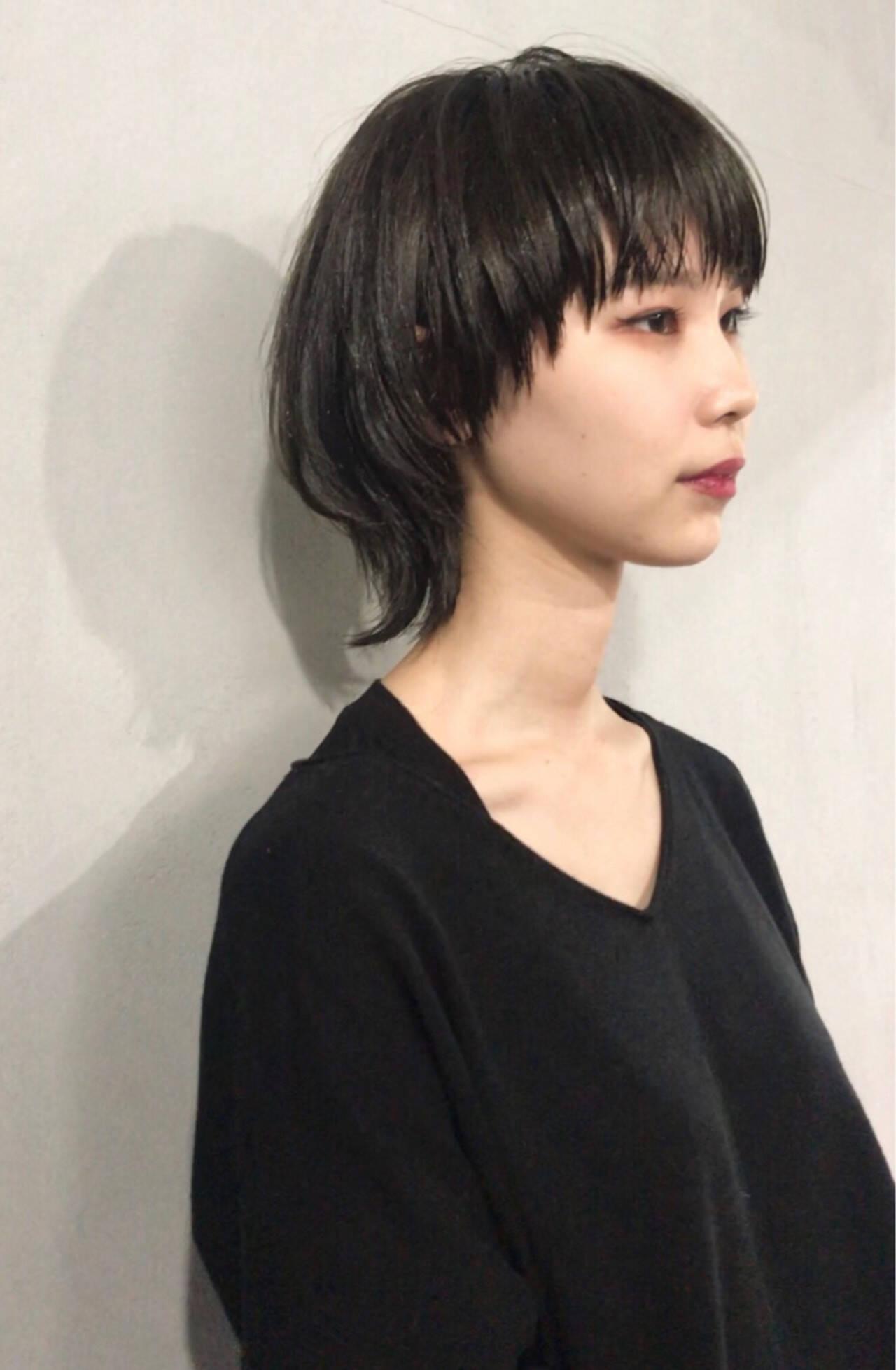 ショート マッシュ かっこいい レイヤーカットヘアスタイルや髪型の写真・画像