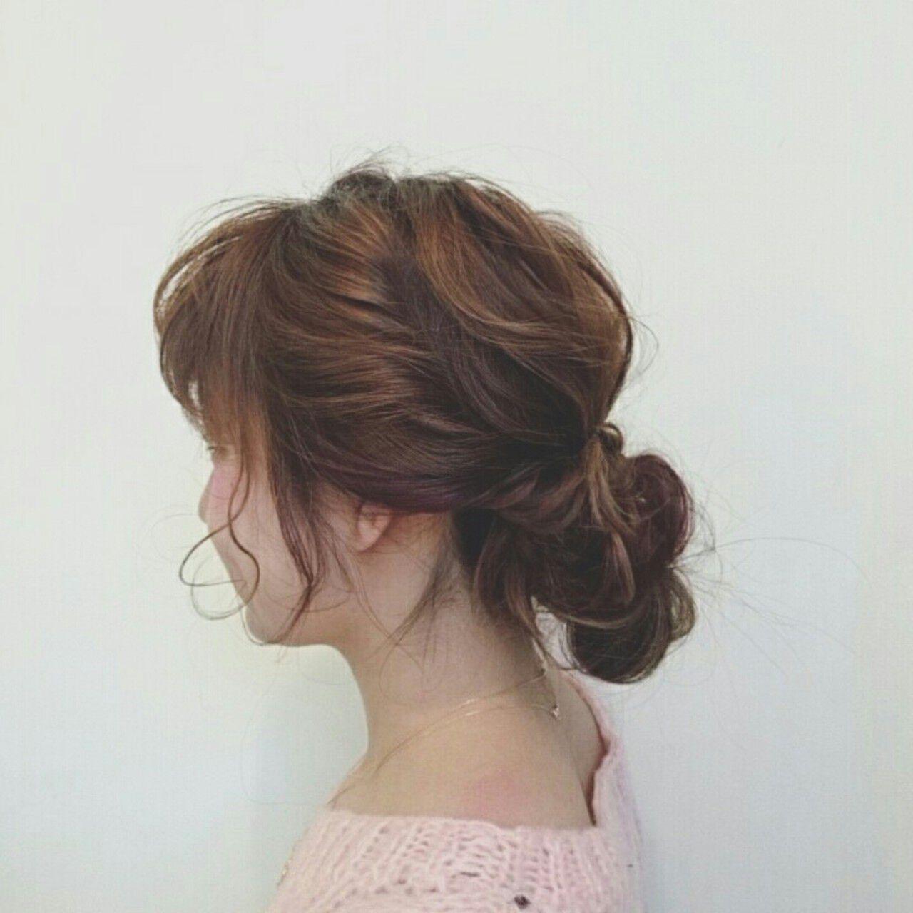 波ウェーブ ヘアアレンジ 簡単ヘアアレンジ 無造作ヘアスタイルや髪型の写真・画像