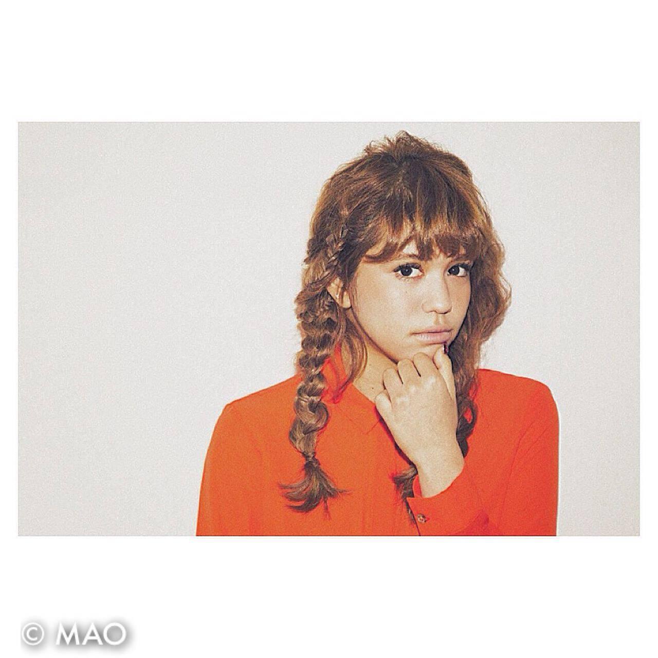ヘアアレンジ 外国人風 編み込み 抜け感ヘアスタイルや髪型の写真・画像