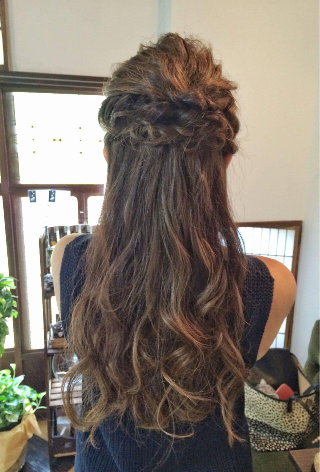ラフ ヘアアレンジ ゆるふわ 大人かわいいヘアスタイルや髪型の写真・画像