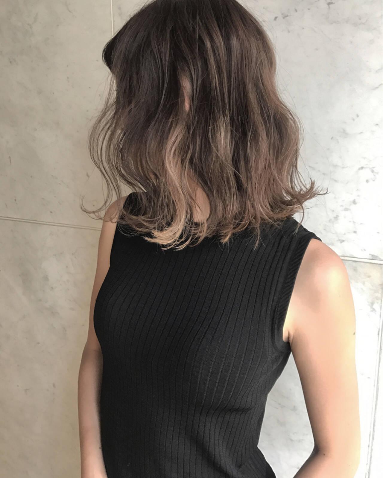 ミディアム 外国人風カラー 秋 エレガントヘアスタイルや髪型の写真・画像