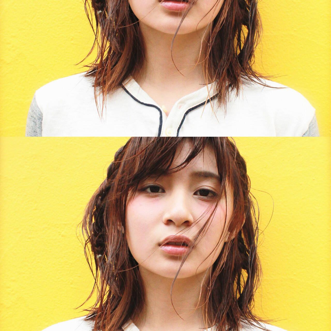 前髪あり ブラウン モード 外国人風ヘアスタイルや髪型の写真・画像