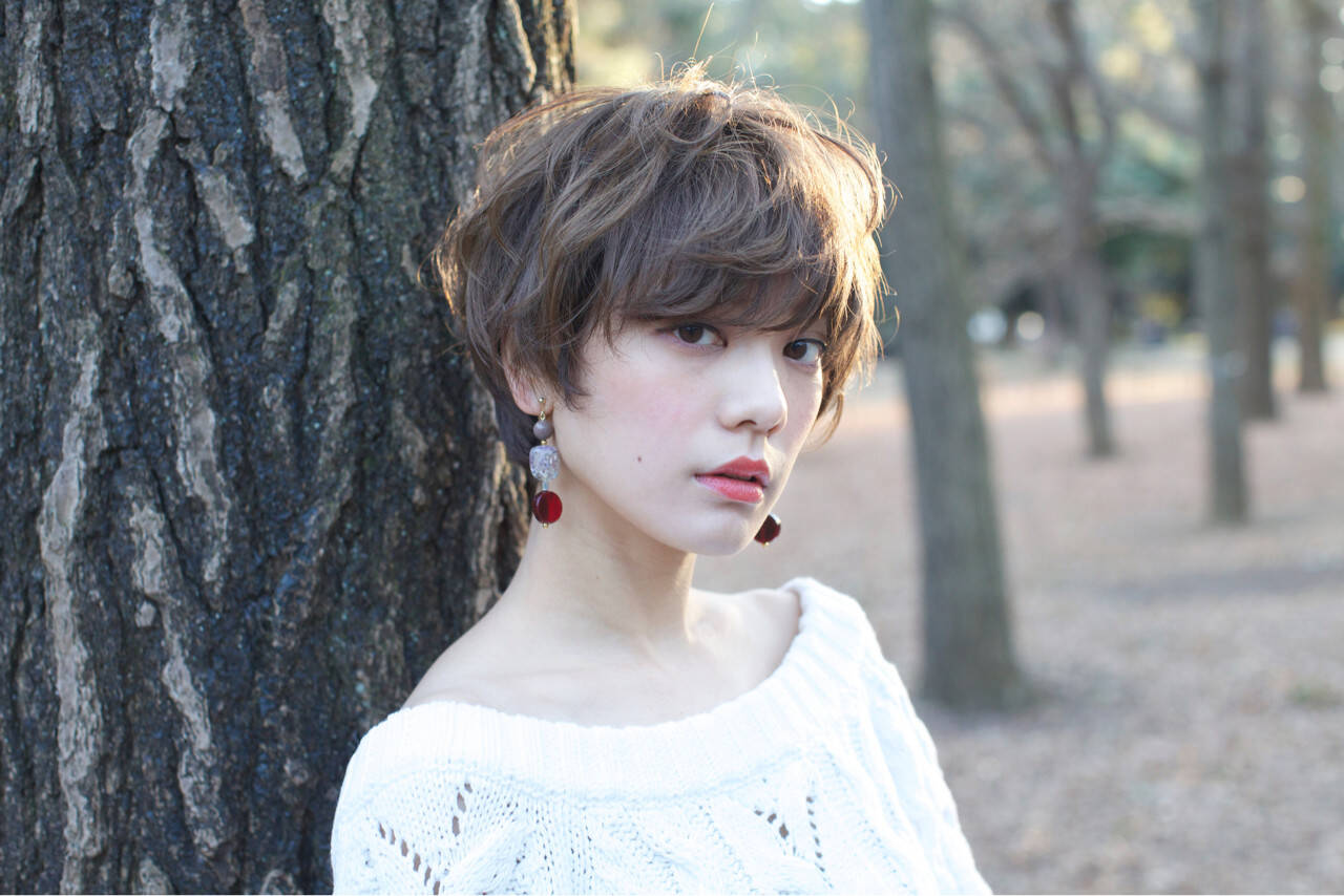 外国人風 ニュアンス こなれ感 小顔ヘアスタイルや髪型の写真・画像