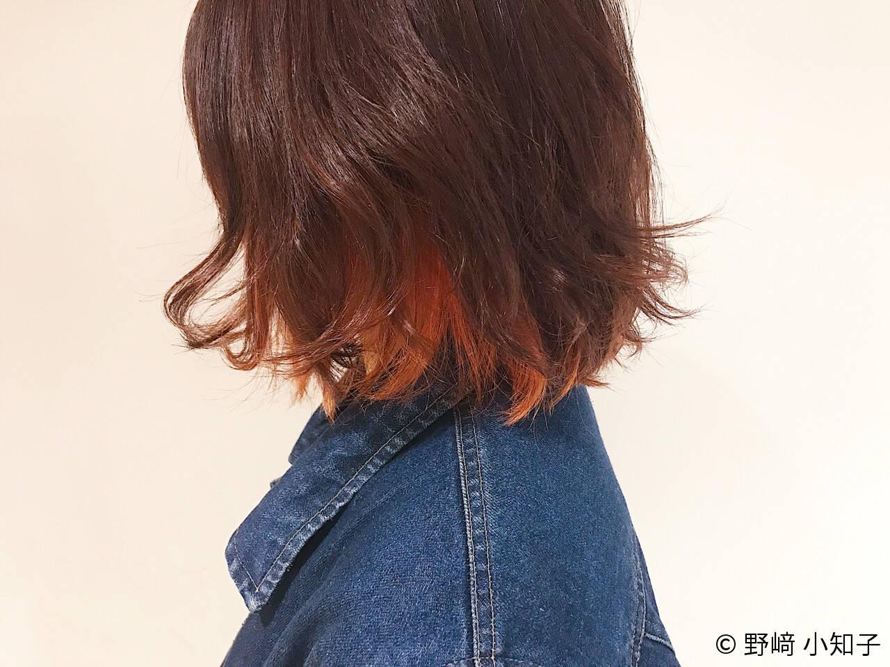 インナーカラー ストリート ハイトーン 外国人風ヘアスタイルや髪型の写真・画像