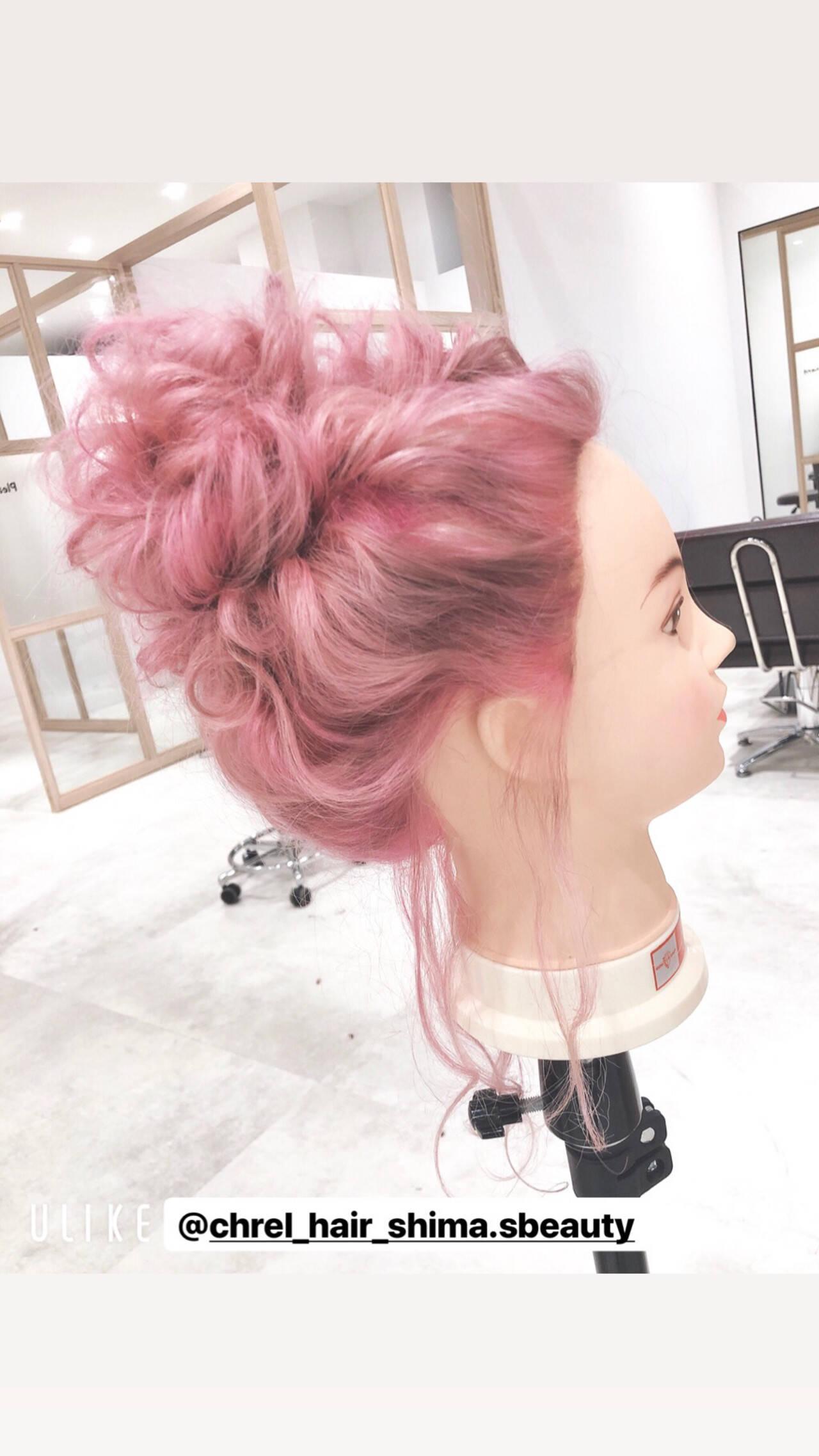学生 原宿 ガーリー ヘアアレンジヘアスタイルや髪型の写真・画像