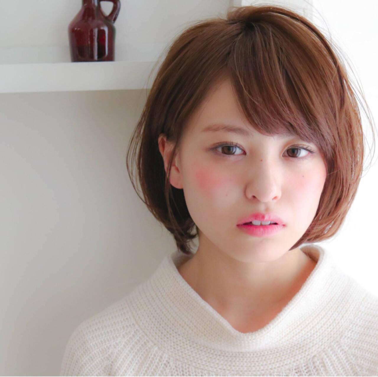 モテ髪 フェミニン ガーリー ショートヘアスタイルや髪型の写真・画像