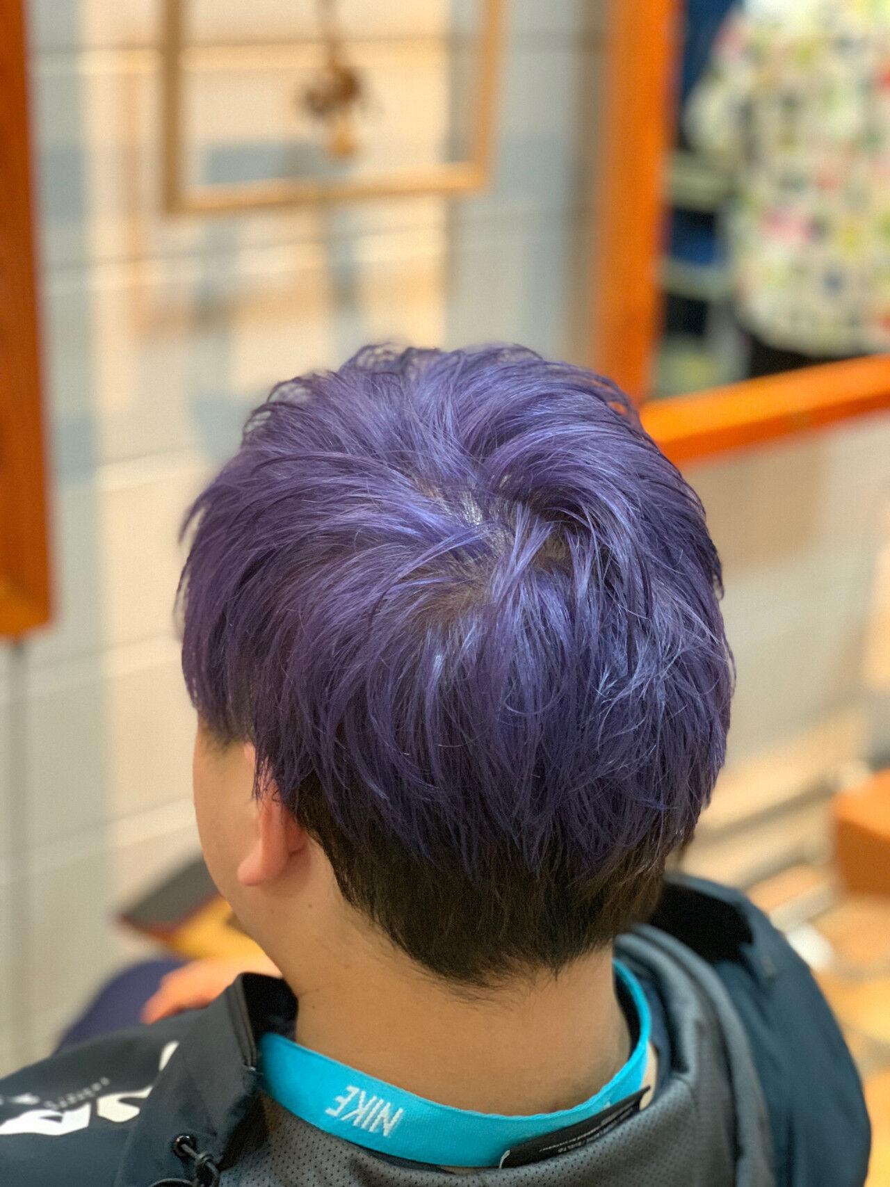 バイオレットアッシュ ストリート メンズカラー メンズスタイルヘアスタイルや髪型の写真・画像