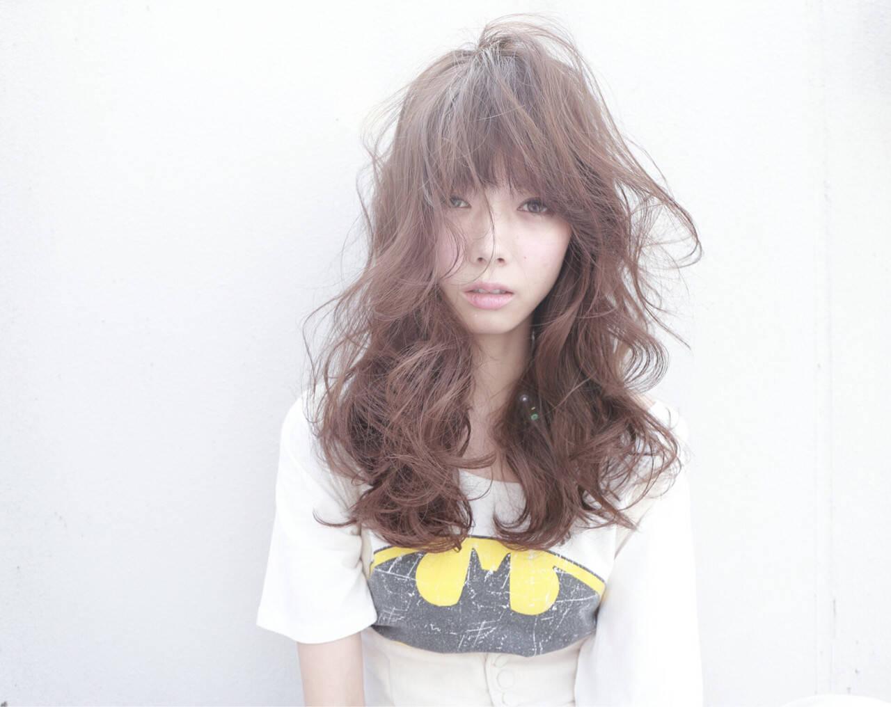 ハイライト フェミニン ロング 外国人風ヘアスタイルや髪型の写真・画像