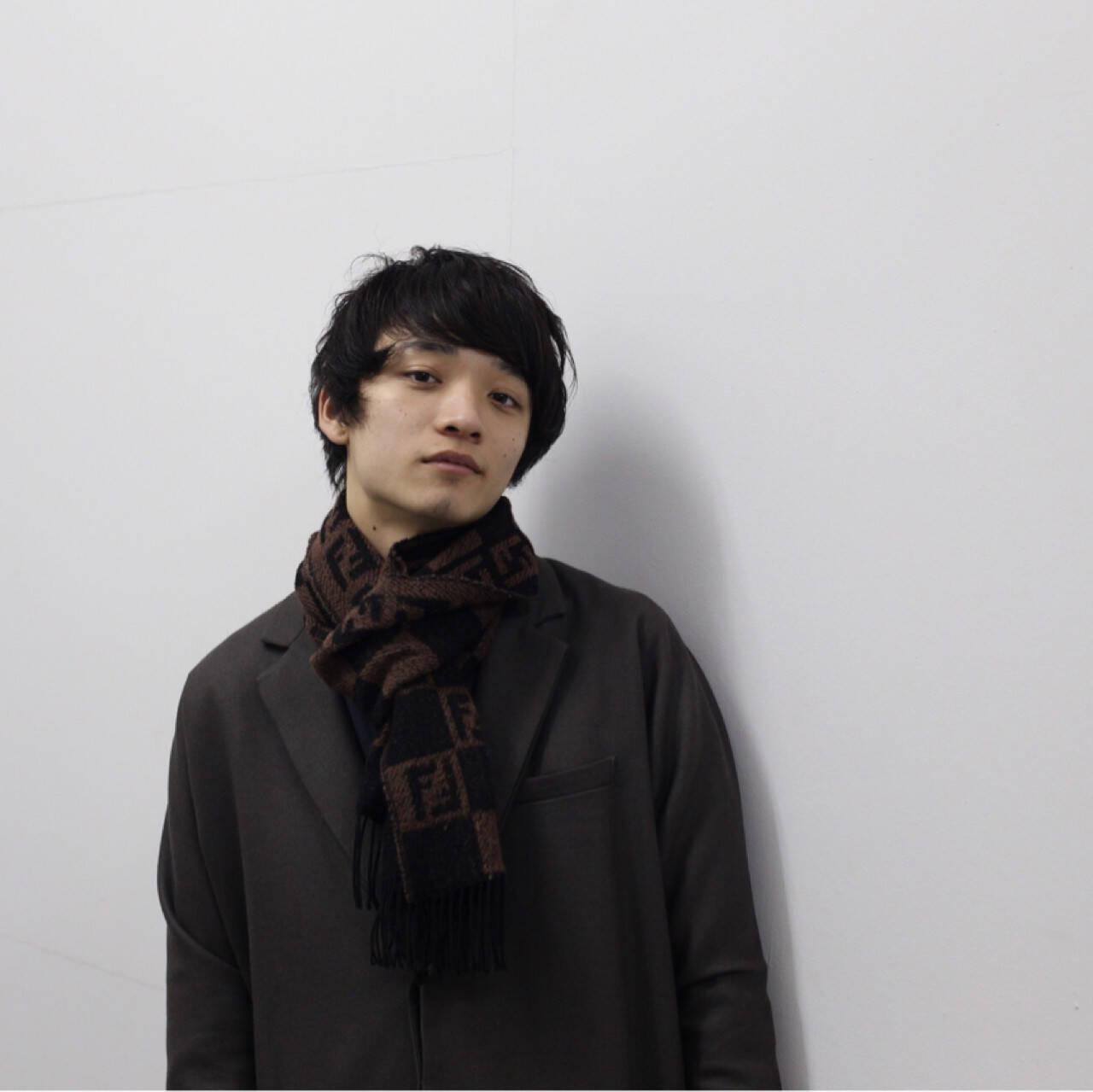 黒髪 ボーイッシュ メンズ ナチュラルヘアスタイルや髪型の写真・画像
