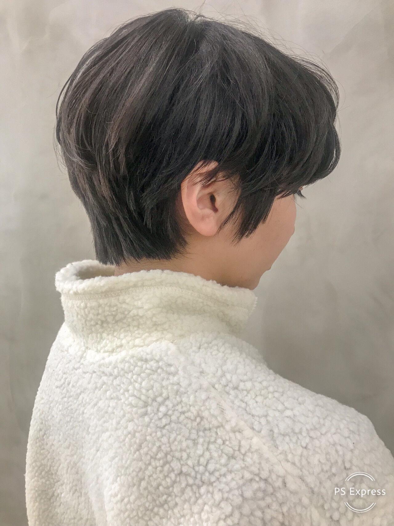 ショート マッシュヘア パーマ ショートボブヘアスタイルや髪型の写真・画像