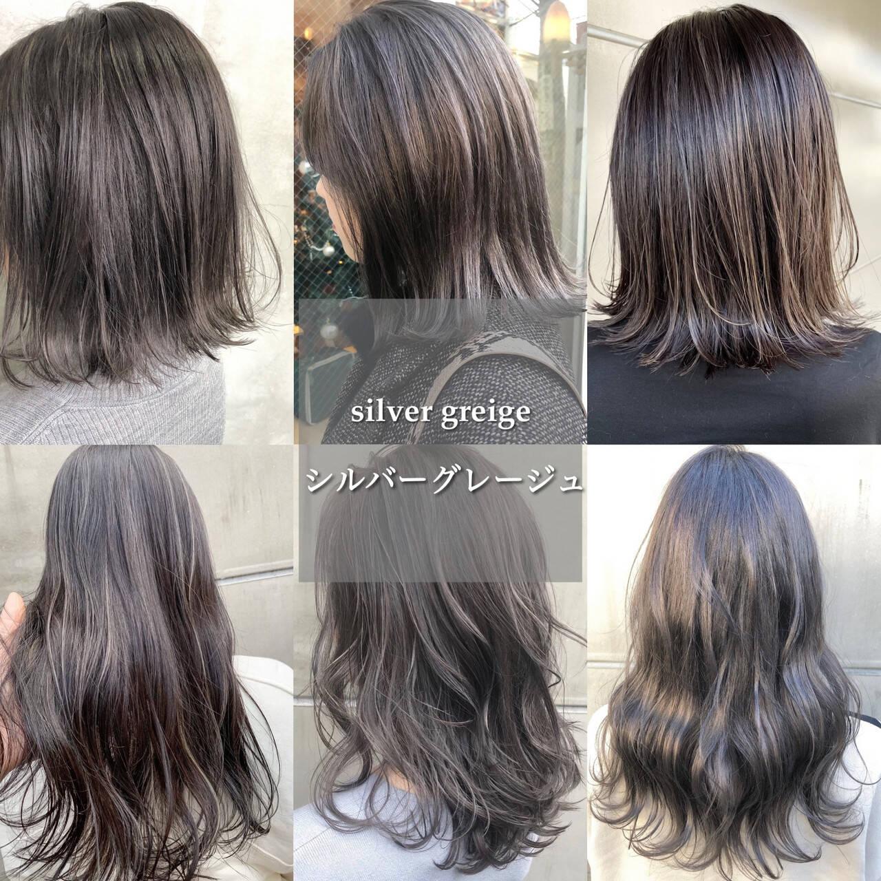 ナチュラル ショートボブ インナーカラー ショートヘアヘアスタイルや髪型の写真・画像