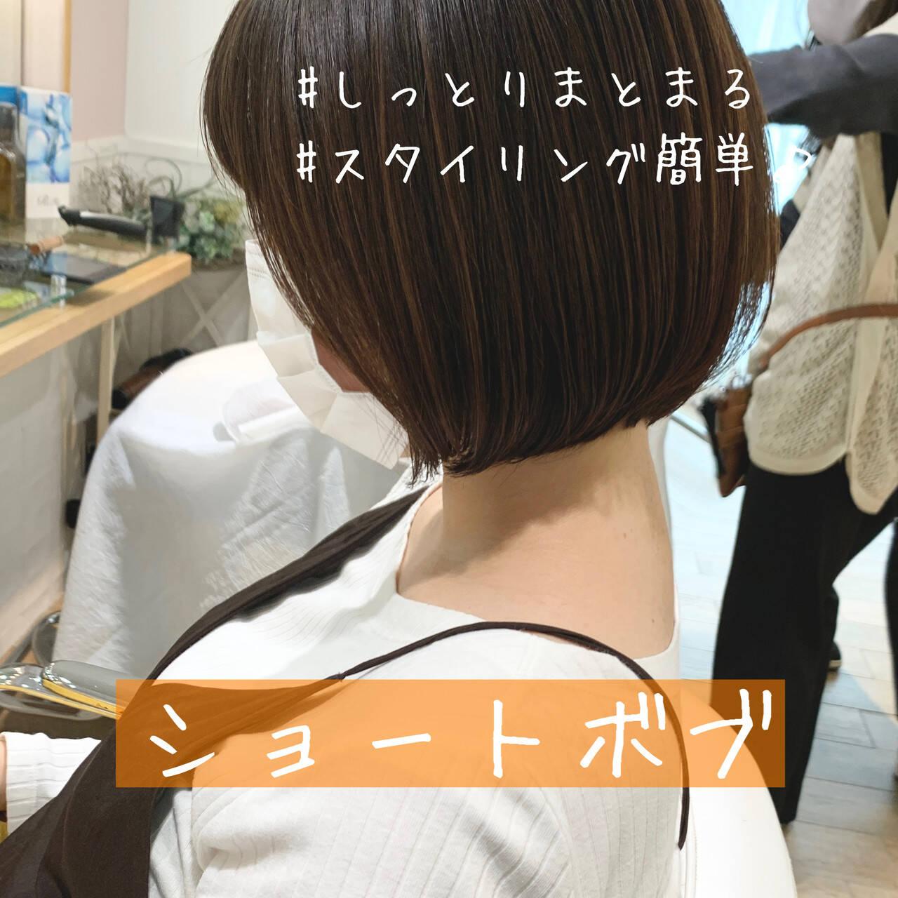 ベリーショート ショートボブ ショートヘア 切りっぱなしボブヘアスタイルや髪型の写真・画像