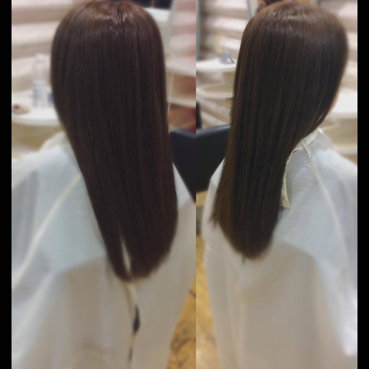 艶髪 髪質改善カラー ナチュラル 髪質改善トリートメントヘアスタイルや髪型の写真・画像