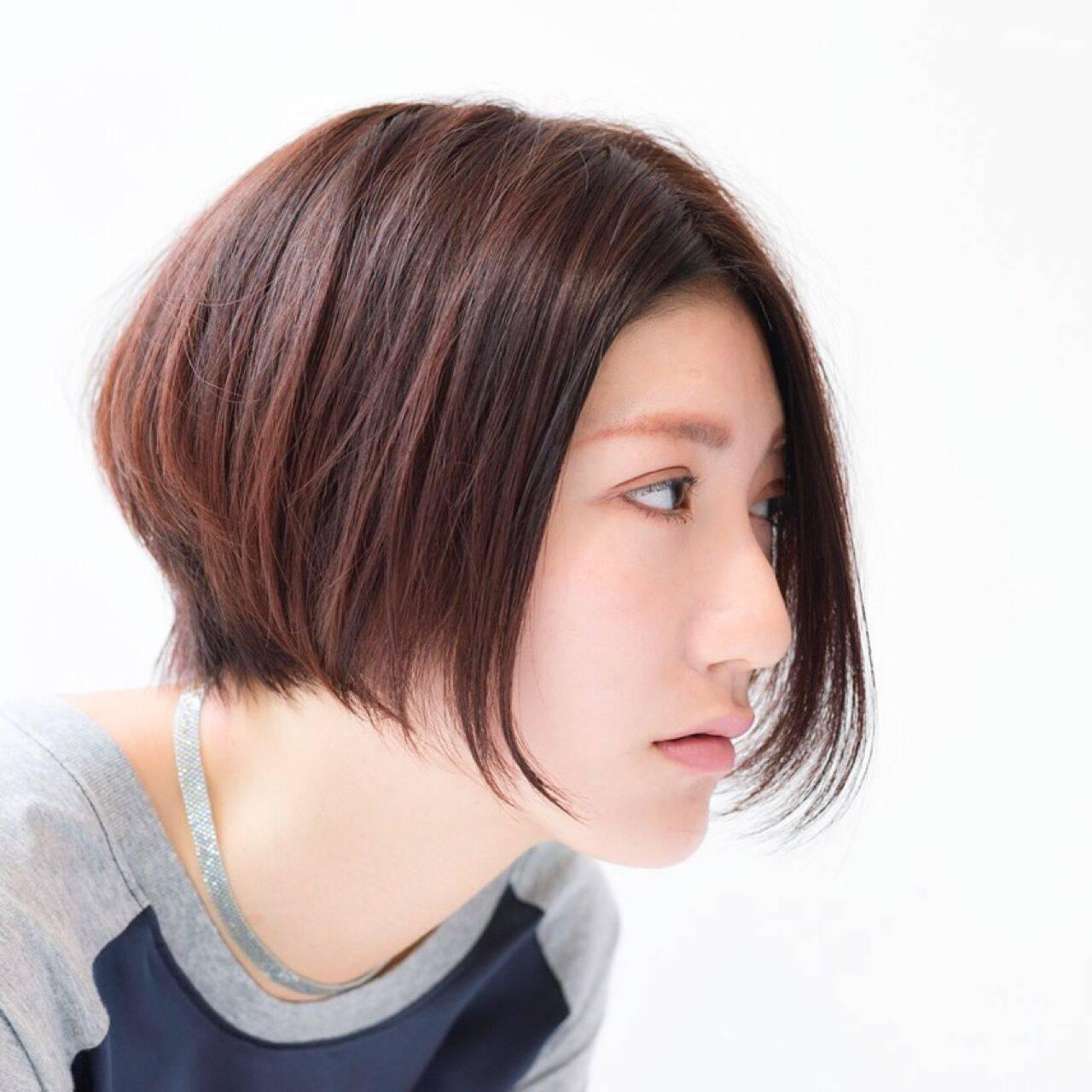 ナチュラル ショート モード ストリートヘアスタイルや髪型の写真・画像