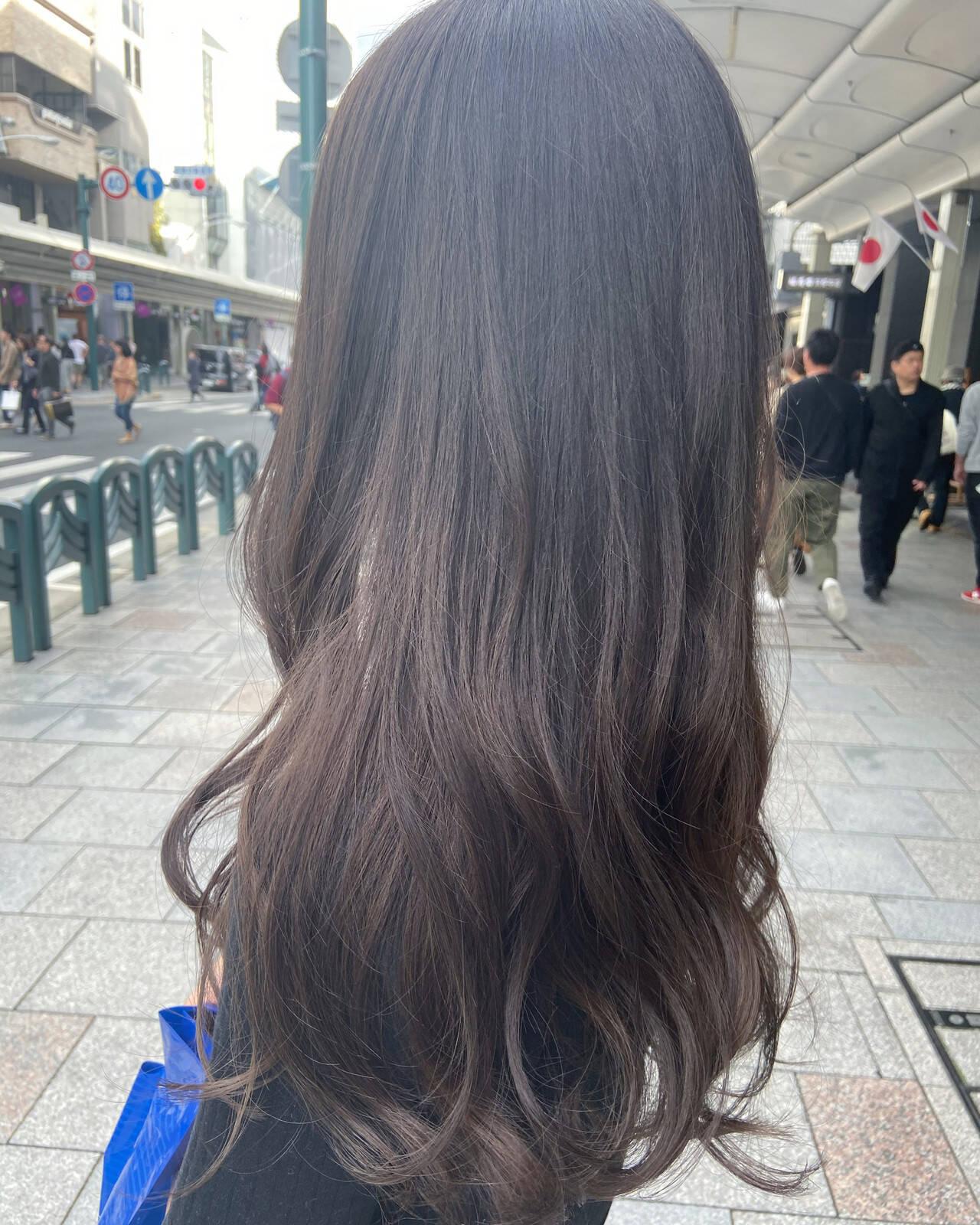 グラデーションカラー アッシュグラデーション グラデーション ネイビーブルーヘアスタイルや髪型の写真・画像