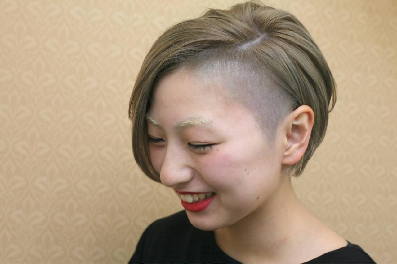 モード ハイトーン 大人女子 坊主ヘアスタイルや髪型の写真・画像