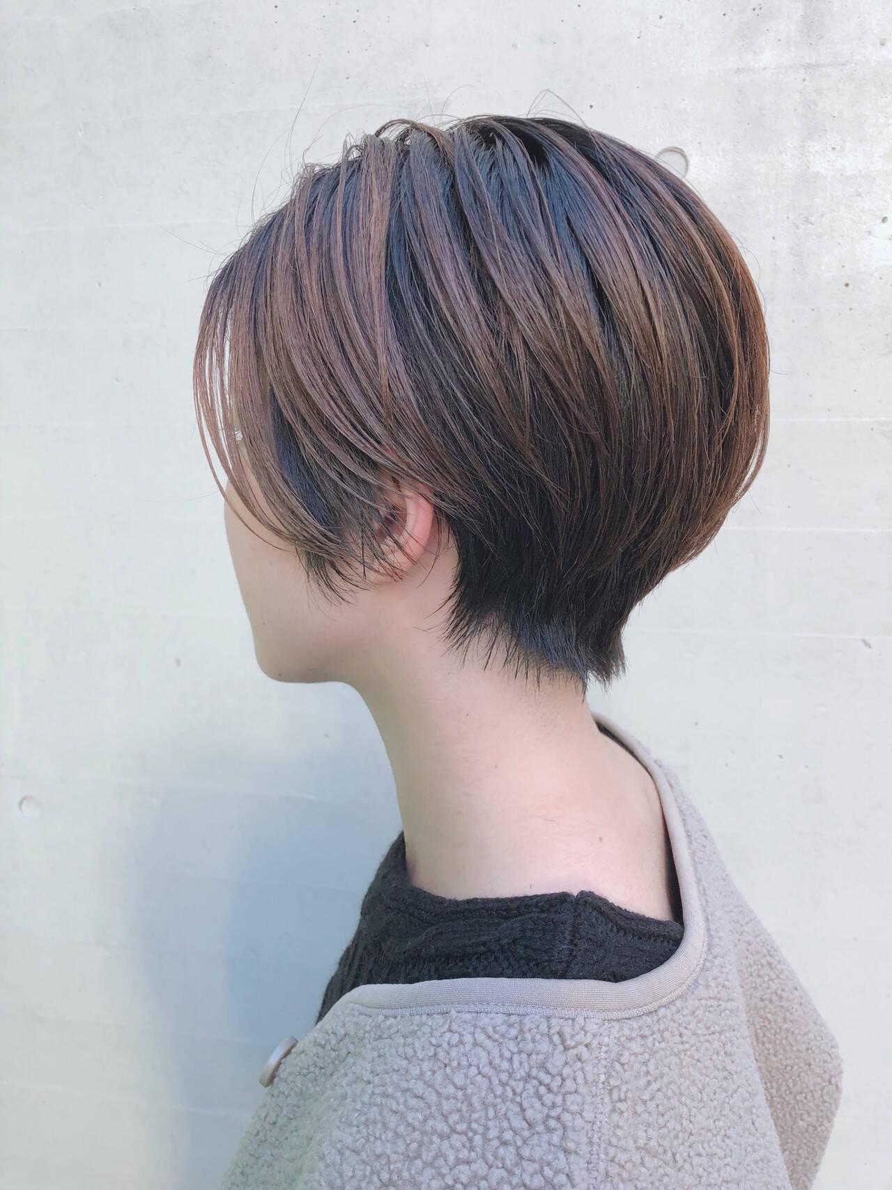 ショート ナチュラル 簡単スタイリング ショートヘアヘアスタイルや髪型の写真・画像