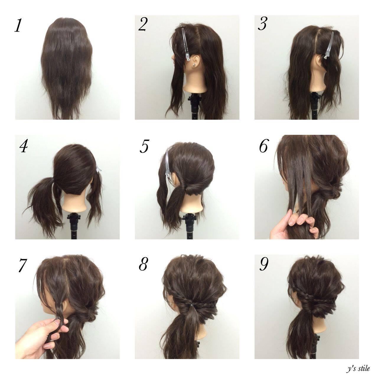 ヘアアレンジ ショート ナチュラル ミディアムヘアスタイルや髪型の写真・画像