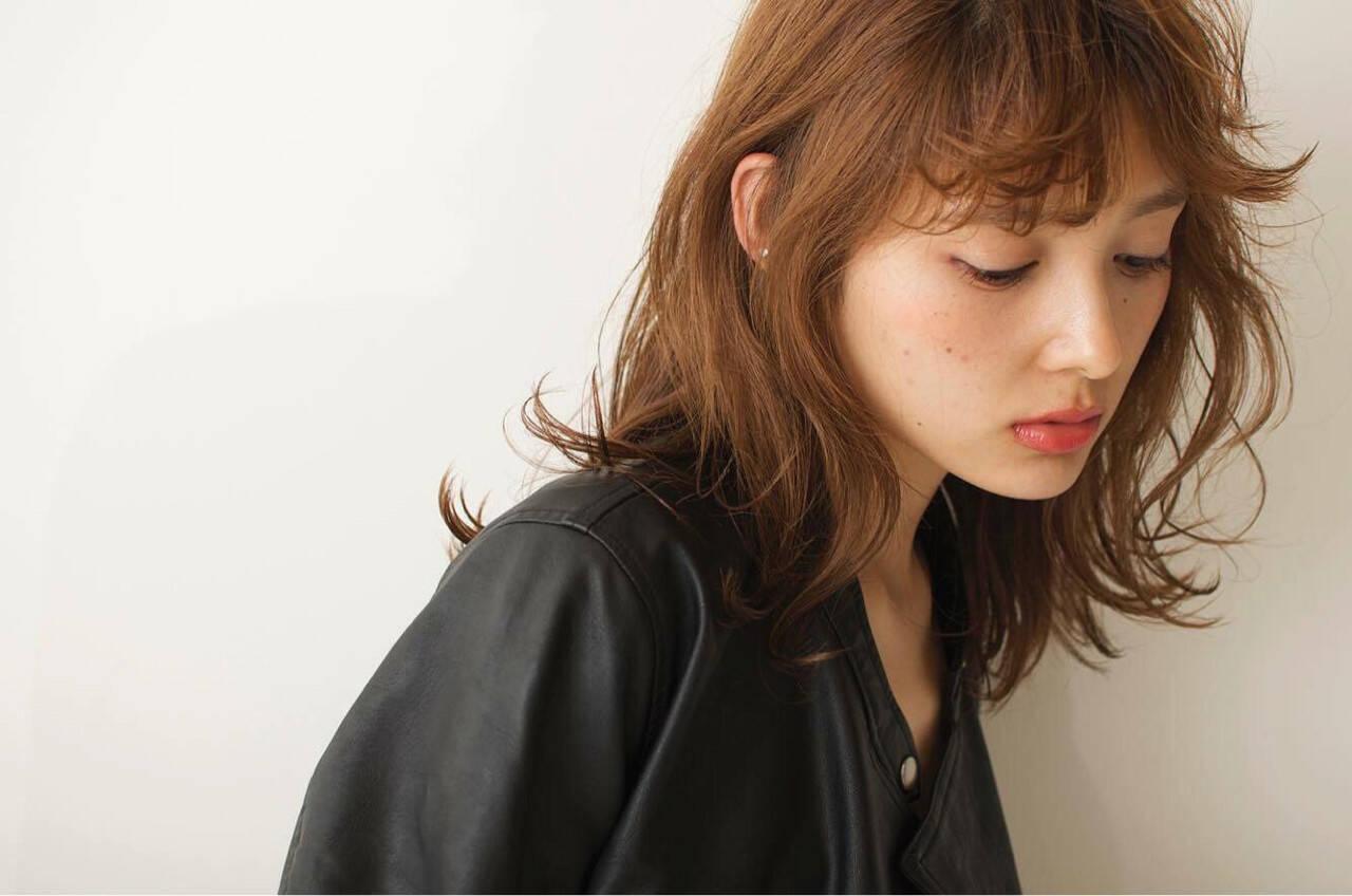 前髪あり 外国人風 アッシュ うざバングヘアスタイルや髪型の写真・画像