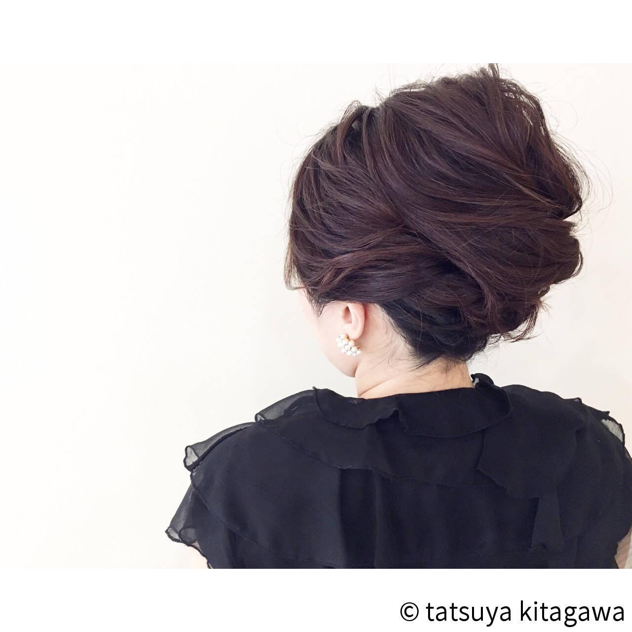 結婚式 アップスタイル 上品 ヘアアレンジヘアスタイルや髪型の写真・画像