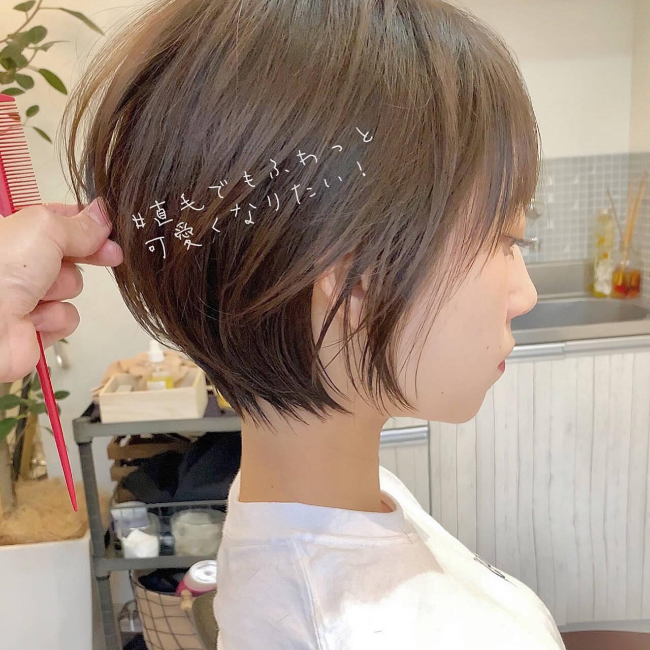 ショート フェミニン ゆるふわ パーティーヘアスタイルや髪型の写真・画像