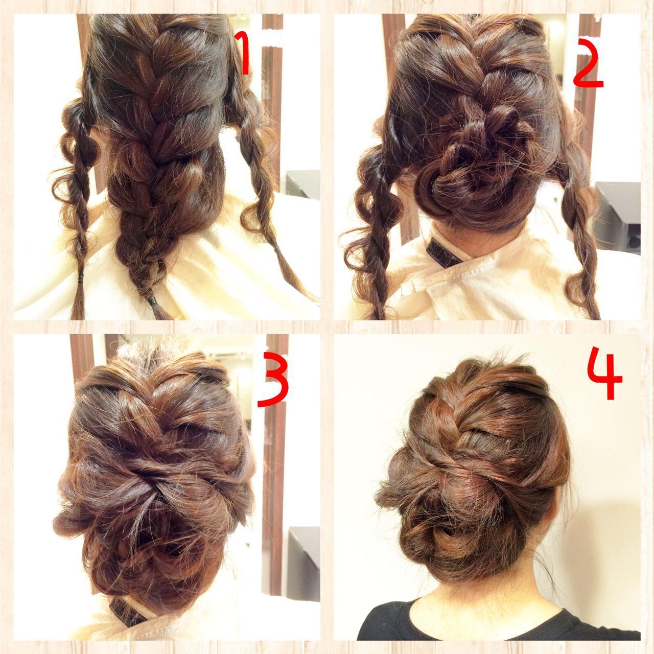 結婚式 ナチュラル 簡単ヘアアレンジ ヘアアレンジヘアスタイルや髪型の写真・画像