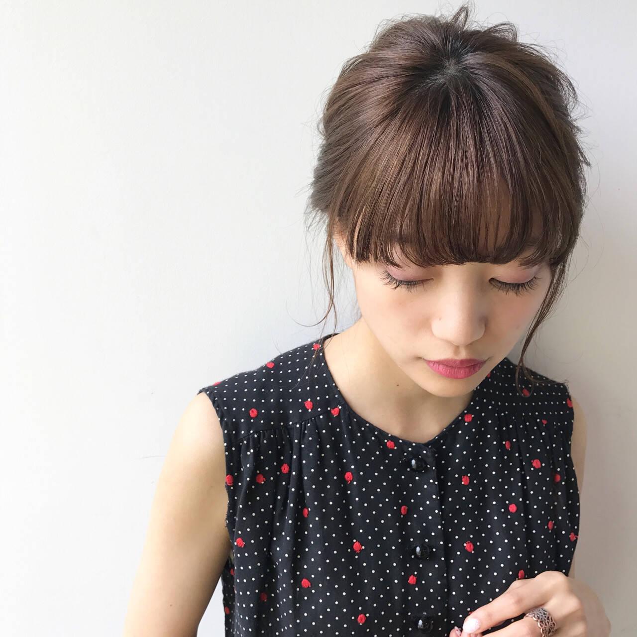 ミディアム ヘアアレンジ 色気 夏ヘアスタイルや髪型の写真・画像