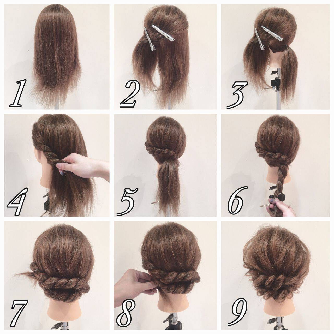 編み込み ヘアアレンジ 簡単ヘアアレンジ ロングヘアスタイルや髪型の写真・画像