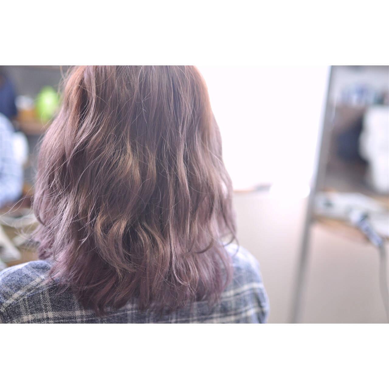 ボブ 外国人風カラー 透明感 グラデーションカラーヘアスタイルや髪型の写真・画像