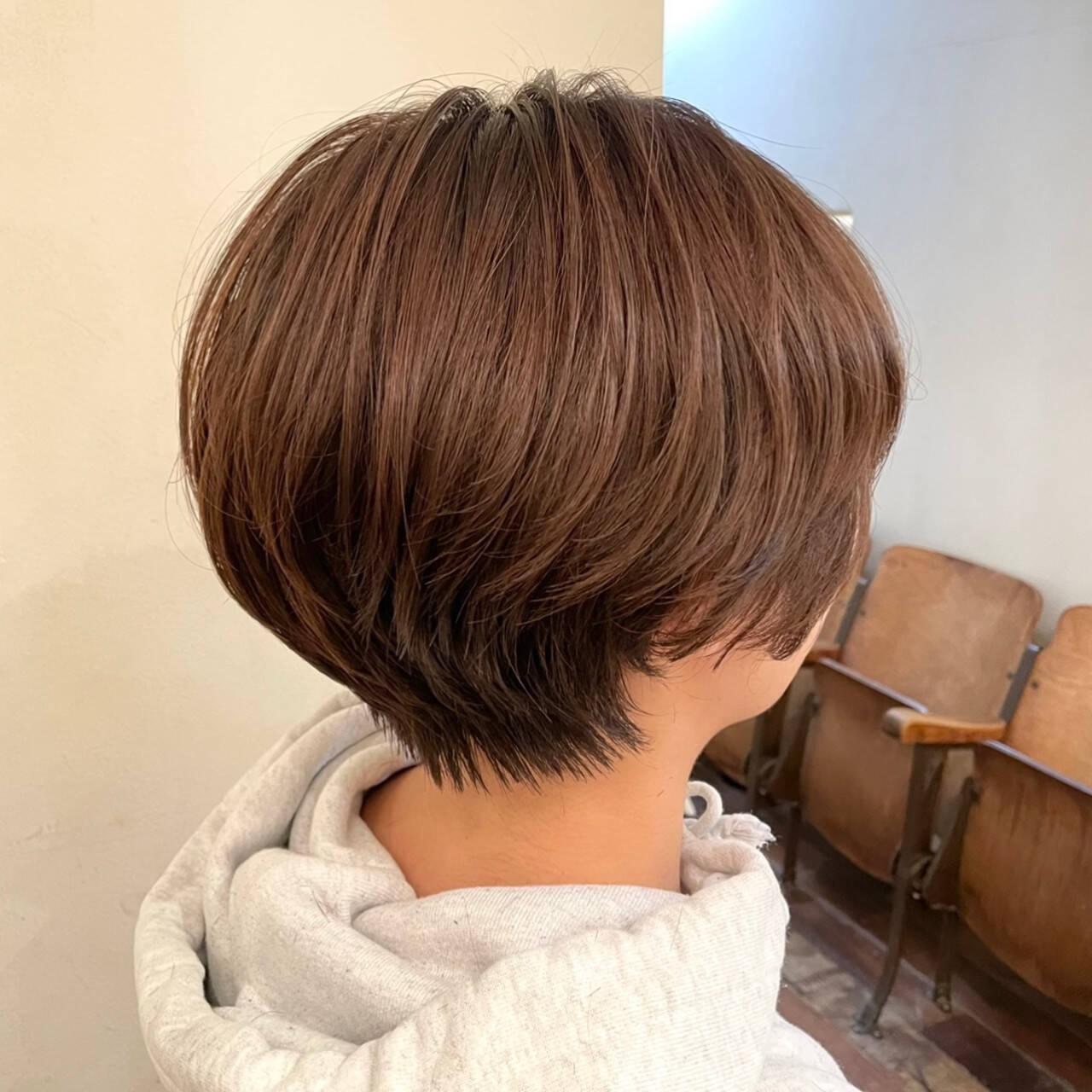 ナチュラル ショートヘア ハンサムショート ショートヘアスタイルや髪型の写真・画像