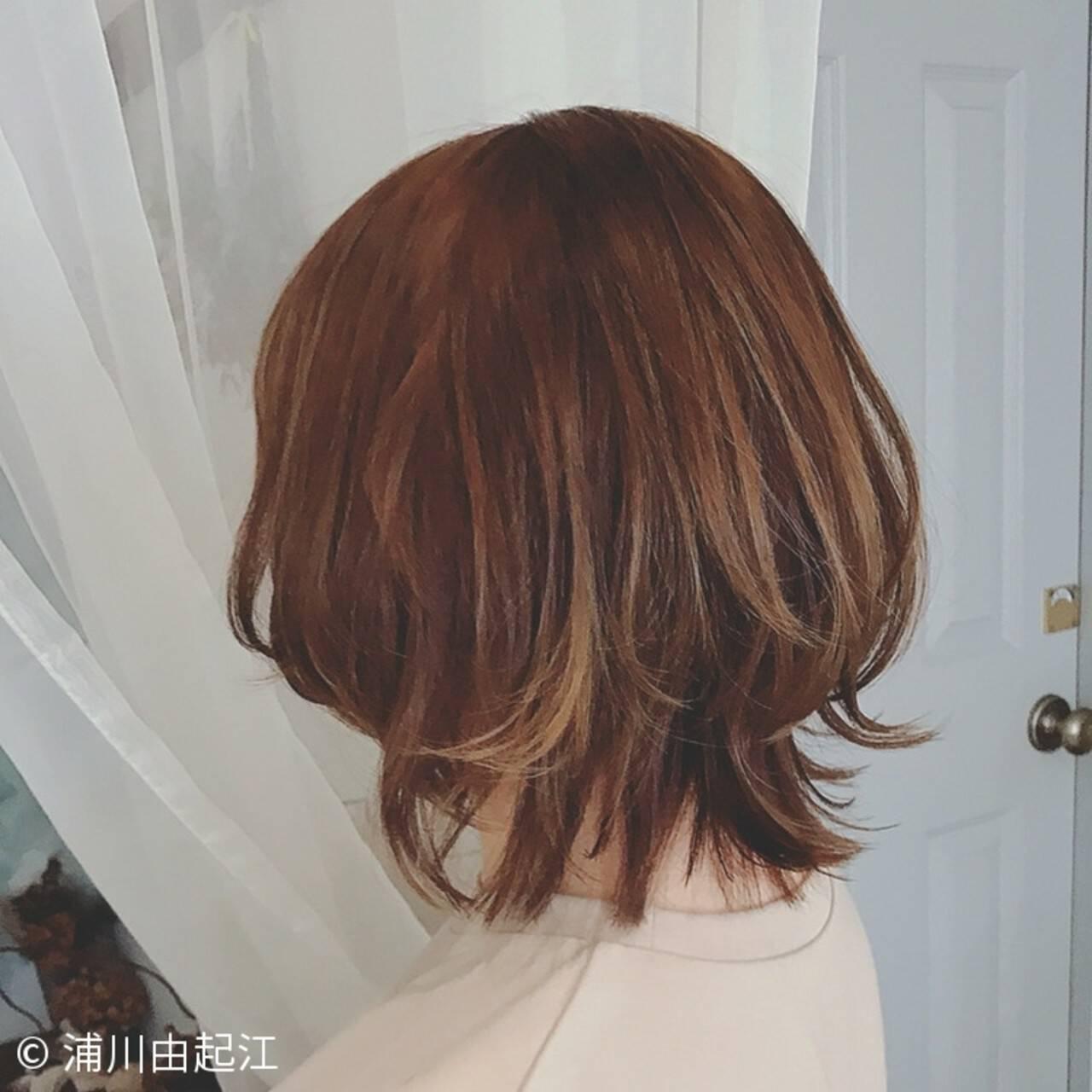 ボブ 大人かわいい 女子力 ナチュラルヘアスタイルや髪型の写真・画像