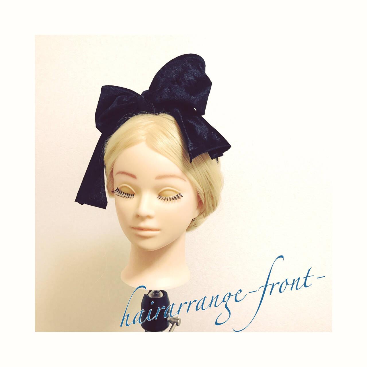 ギブソンタック ヘアアレンジ ロング ショートヘアスタイルや髪型の写真・画像