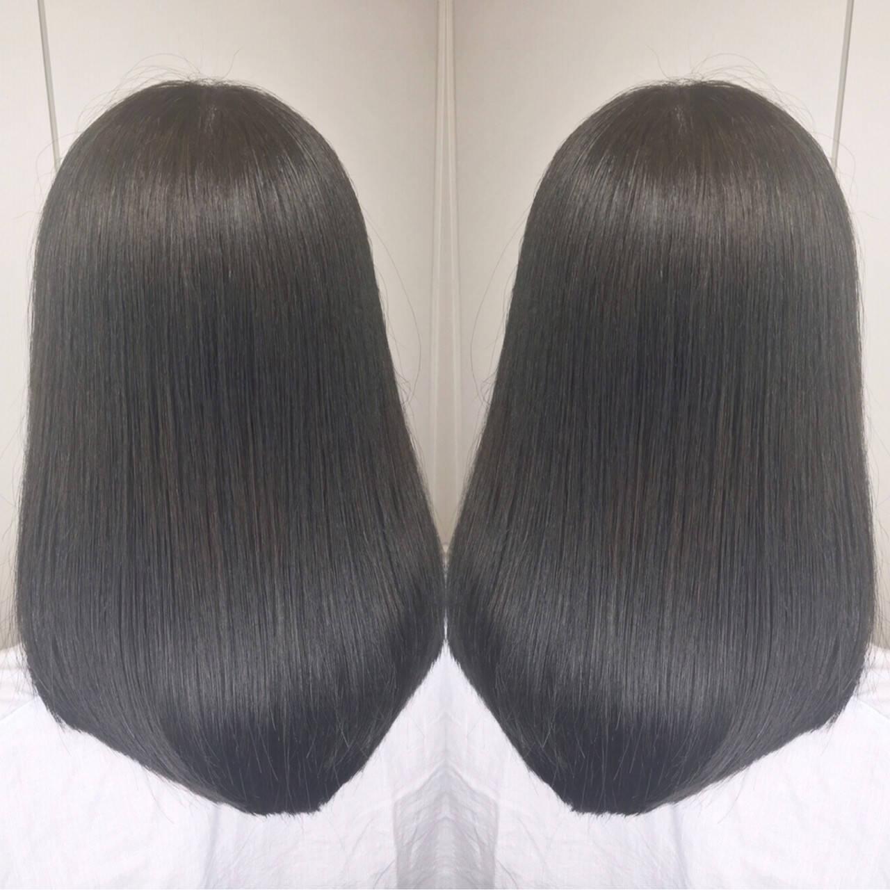 ナチュラル アウトドア ミディアム 透明感ヘアスタイルや髪型の写真・画像