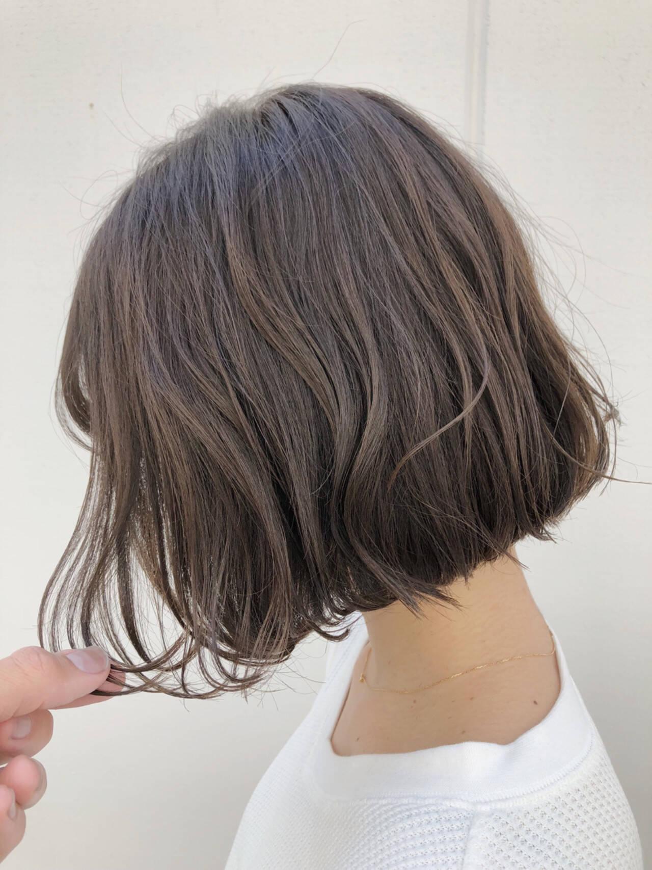 ウェーブ 外国人風カラー パーマ アンニュイヘアスタイルや髪型の写真・画像