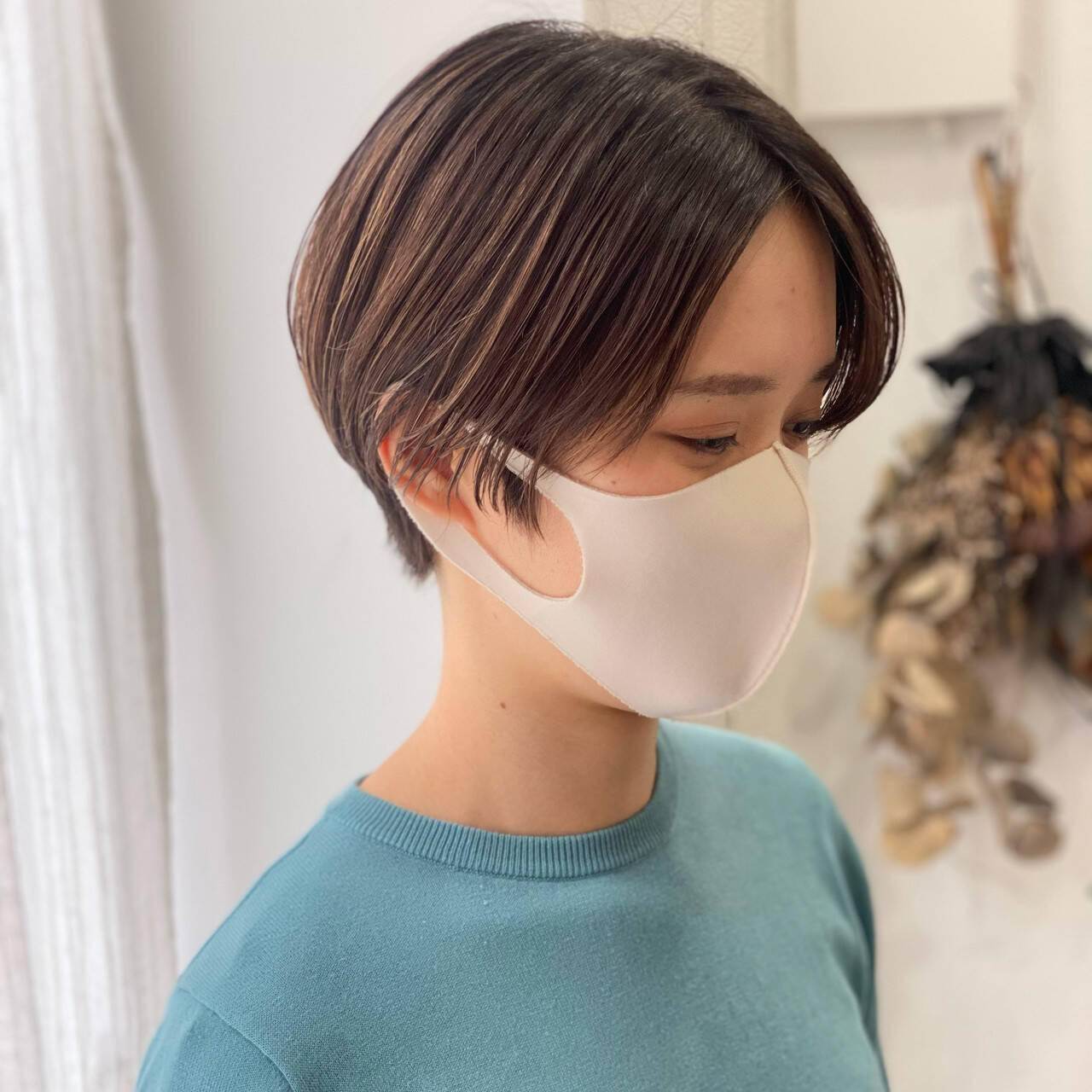 デート ショート ハンサムショート ナチュラルヘアスタイルや髪型の写真・画像