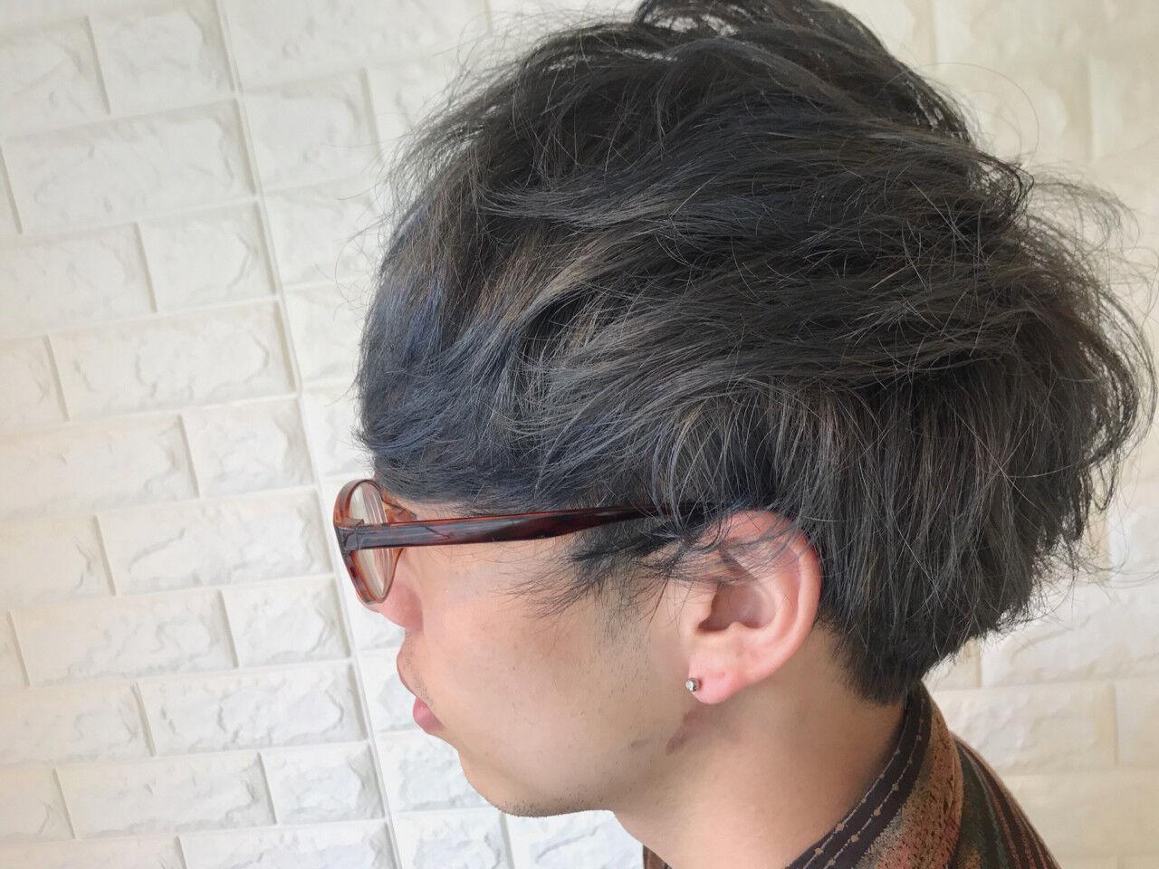 ナチュラル パーマ メンズ ショートヘアスタイルや髪型の写真・画像