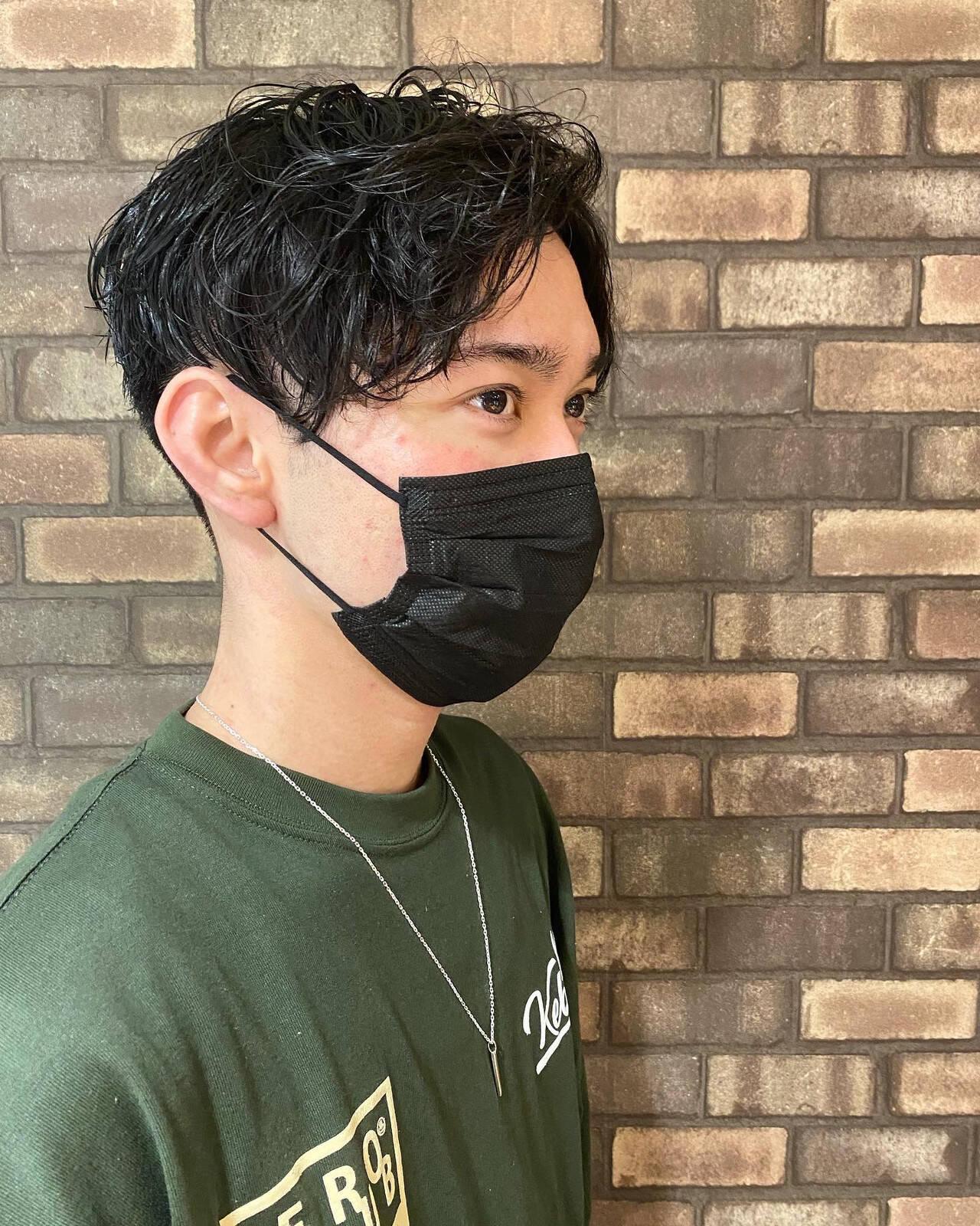 ナチュラル メンズカット 韓国風ヘアー メンズヘアヘアスタイルや髪型の写真・画像