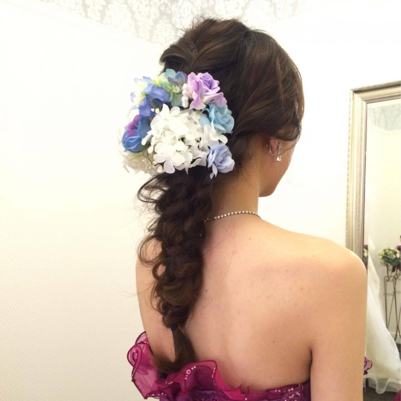 ブライダル コンサバ ロング 結婚式ヘアスタイルや髪型の写真・画像