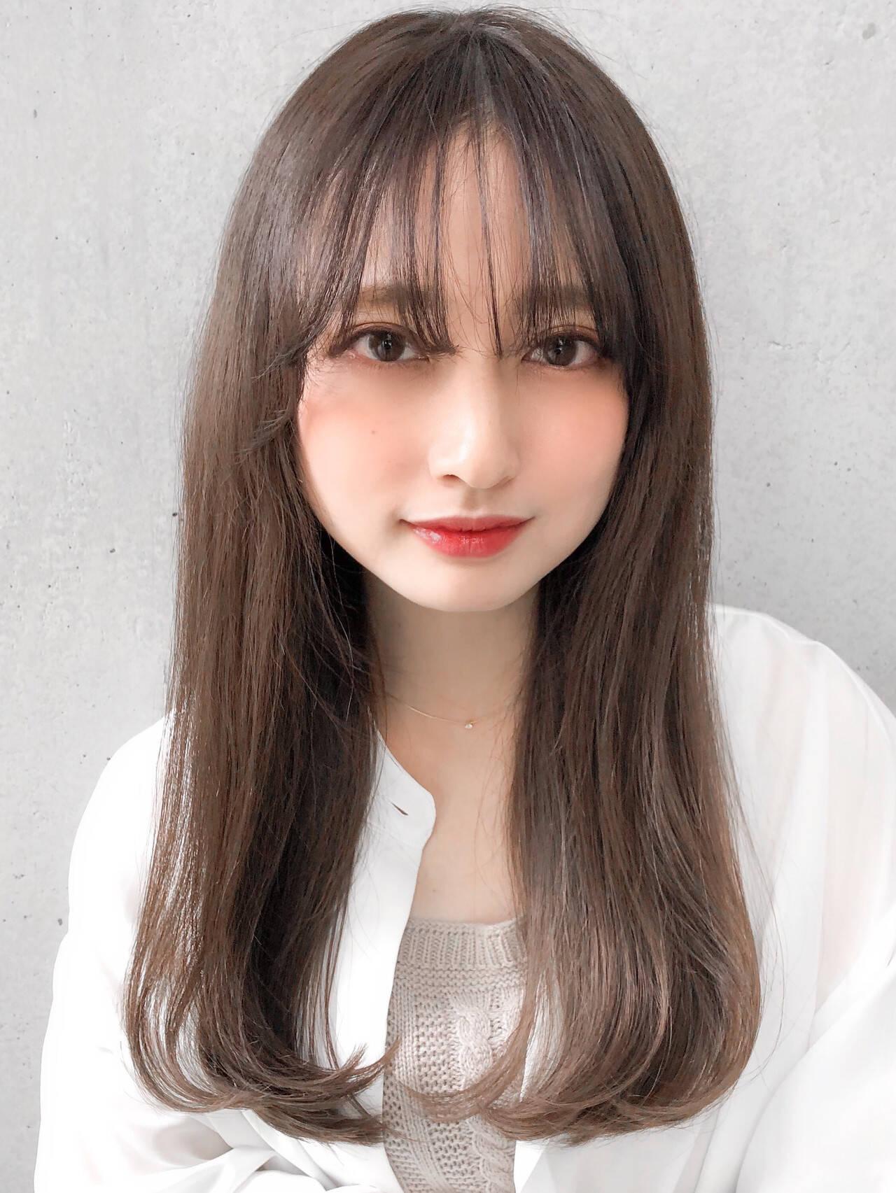 フェミニン 大人かわいい モテ髪 透明感カラーヘアスタイルや髪型の写真・画像