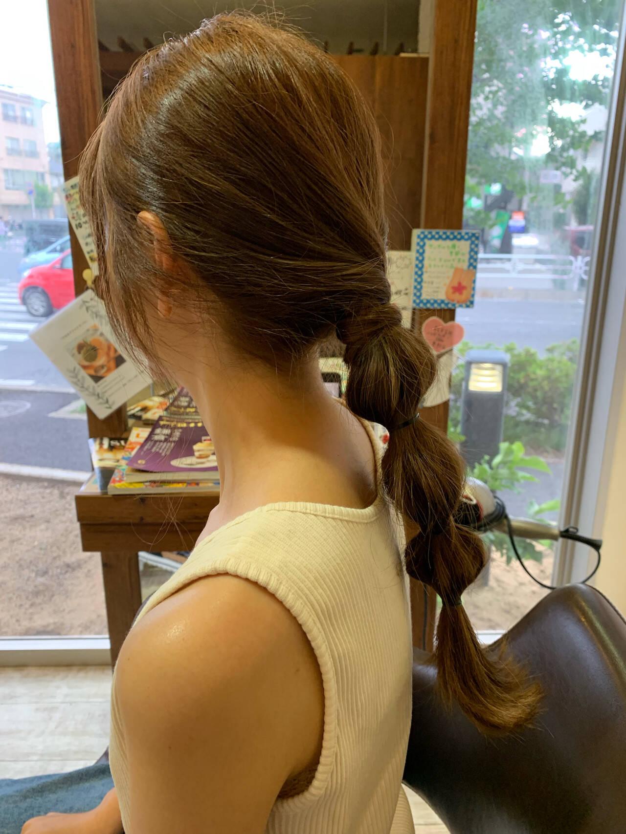 ロング ヘアアレンジ ガーリー 簡単ヘアアレンジヘアスタイルや髪型の写真・画像