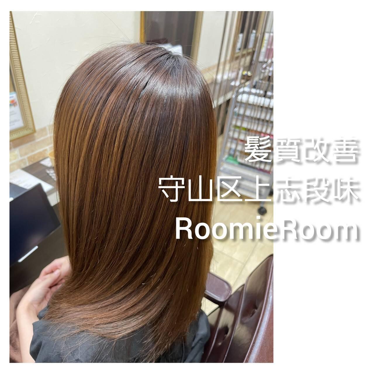 セミロング 髪の病院 名古屋市守山区 美髪ヘアスタイルや髪型の写真・画像